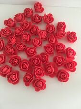 50 Small Red Rose Flower Heads Red Foam Rose Wedding Bridal Crafts 2cm