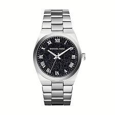 NIB Michael Kors Women's Watch Dark Blue & Silver Bracelet CHANNING MK6113 $250