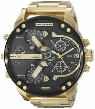 DIESEL DZ7333 GOLD MENS MR DADDY 2.0 57MM CHRONOGRAPH WATCH