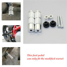 1 Set 10cm*2.5cm Footrests Footpegs Foot Pegs Pedals CNC Aluminum Motorcycle
