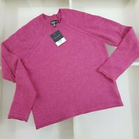 Topshop Pink Raspberry Pointelle Knit Jumper Size UK 10 New with tags
