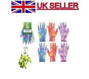Ladies Women Designer Floral Gardening luxury General Working Gloves
