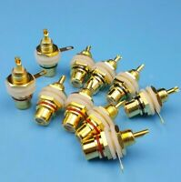 20PCS/Pack RCA Female Chassis Panel Mount Jack Socket Connector 24K Gold Plated