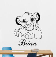 Simba Lion King Wall Sticker Custom Name Cartoons Vinyl Nursery Kids Room Decal