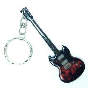 Gibson SG AC/DC Angus Young Portachiavi acciaio - Steel keychain - Acero Llavero