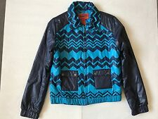 Missoni for Target Womens Blue Zig Zag print Puffer Jacket S