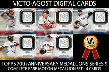 Topps Bunt 70th Anniversary Medallions Series 9 COMPLETE SET 4 Cards [BUNT APP]