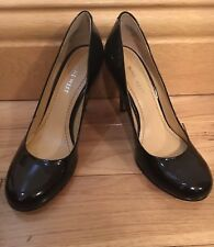 Brand New Leather Nine West Black Court Work Shoe Heels Size 3.5 - 4 6M