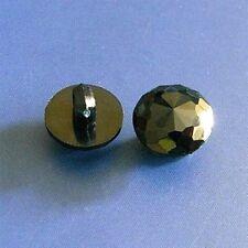 20 Designer Curve Face Polygon Umbrella Cut Domed Shirt Buttons 10mm Black S161