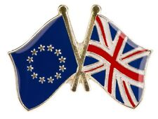 UK/EU - Union Jack and EU (European Union) Friendship Lapel Pin HIGH QUALITY