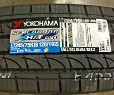 2 New LT 245 75 16 LRE 10 Ply Yokohama Geolandar H/T G056 Tires
