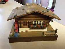 Vtg Windup Music Box Cuendet Swiss Movement chalet