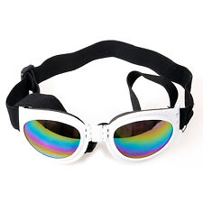 pliage Réglable Chien Moyen Lunettes de soleil lunettes blanches - par Digiflex