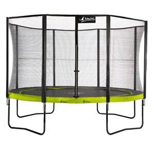 Trampoline 430 cm + filet de sécurité PUNCHI Vert 430
