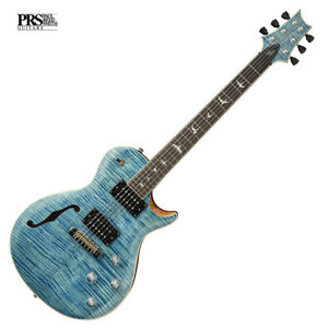 PRS SE Zach Myers Electric Guitar Myers Blue Semi Hollow Body inc Bag  Paul Reed