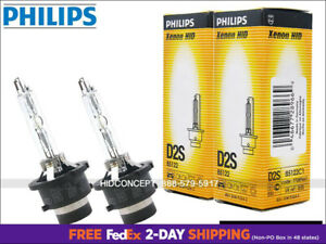 NEW AUTHENTIC PHILIPS OEM D2S 4300K HID XENON Bulbs 85122 35W GERMANY DOT | PAIR