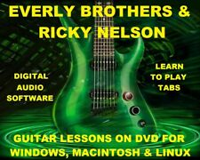 Everly Brothers Ricky Nelson Guitar TAB Lesson CD 495 TABS 30 Backing Tracks