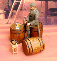 """1/6 Scale Scene Wooden Barrel Model Hot Toy Model WWII German Fit for 12"""" Action"""