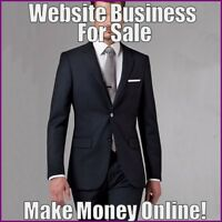 MENS SUITS Website Earn $105.00 A SALE|FREE Domain|FREE Hosting|FREE Traffic