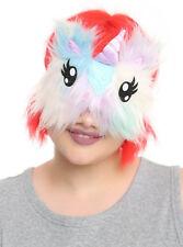 Unicorn Sleep Mask Pastel Furry Satin Horn One Size New