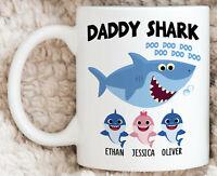 Personalized Daddy Shark Gifts Daddy Doo Doo Doo Mug Baby Shark Song Funny