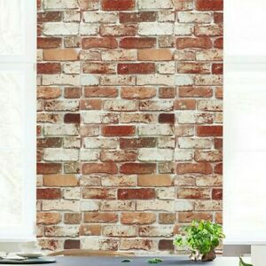 Textured Slate Brick Wall Effect Sticker Kitchen Living Room Decor Protection