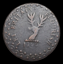 GREAT BRITAIN. Conder Halfpenny Token, 1796, Britain Rules the Waves