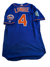 MLB Authenticated - Jed Lowrie Blue Spring Training Jersey Issued By NY Mets