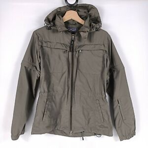 Wild Country Womens Size 10 Utility Jacket Convertible Khaki Green Hooded Light