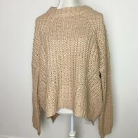 New Universal Thread Large Sweater Pink Knit Chunky Cotton Blend Long Sleeve