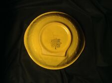 "WOW! An Oldie! TG GREEN GRIPSTAND BOWL 10.25-11"" MADE IN ENGLAND Yellow ware"