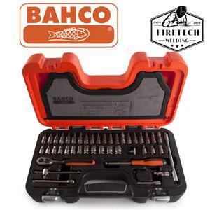 "BAHCO S460 46 Piece 1/4"" Metric Socket Set & Ratchet Bit Set New BAHS460"