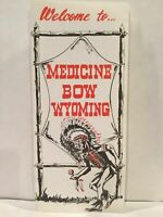 1968 WELCOME TO MEDICINE BOW WYOMING History Points of Interest Brochure & Map
