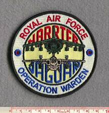 """ROYAL AIR FORCE HARRIER & JAGUAR """"OP WARDEN"""" PATCH."""