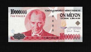 Turkey  Türkei 10000000 million lira  1999 UNC &81