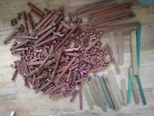 Large Lot of 300+ Vintage Lincoln Logs wooden Toys building blocks roofs