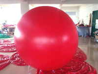 Red Advertising Round Hydroge / Helium Balloon Ball Various size T