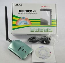 ALFA AWUS036NH 2000MW WIFI Wireless USB Network Adapter 5DB Antenna 5dbi New