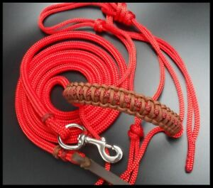 22ft Lead, Rope Halter Natural Horsemanship Unique Set Premium Quality Red