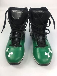 Under Armour Youth Cleats Size 1 Highlight Comp Fit Green Black 1237854-031