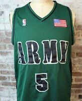 Vintage ARMY NBA Basketball Jersey RARE #5 Bryant Stitched American Flag Size M