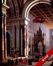 ST PAULS SAN PAOLO BASILICA CATHEDRAL PAINTING ROME ITALY ART REAL CANVAS PRINT
