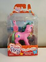 "G3 MLP BUTTERFLY ISLAND, Shimmer Pony ""SHELL-BELLE"" 2004 w Super Shiny Hair! MIB"
