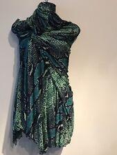 DVF Diane Von Furstenberg Multicolor Silk Wrap Dress Size 4