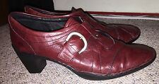 Josef Seibel burgandy Red Slip On Booties Heels Shoes 8/8.5 39