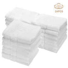 LIVINGbasics® 24pcs High quality 100% cotton washcloths 555gsm Towel set, White