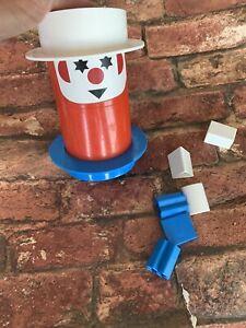 Vintage Upside Down Two Way Plastic Shape Sorter Kids Toy  Clown Kiddicraft