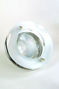 Spot Lights 3  Dimable  Chrome Silver and Frosted Glass Ornate Down Lights
