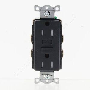 Hubbell Black Self-Testing Tamper Resistant GFCI Outlet 5-15R 15A 125V GFT15BKZ