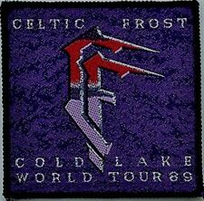 CELTIC FROST 'COLD LAKE TOUR '89' woven patch ( purple)